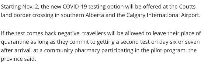 重磅!加拿大宣布试点测试取消14天隔离,改入境快速测试!(图2)